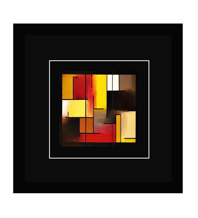 MDF 10.5 x 10.5 Inch Abstract Framed Art Print by Go Hooked