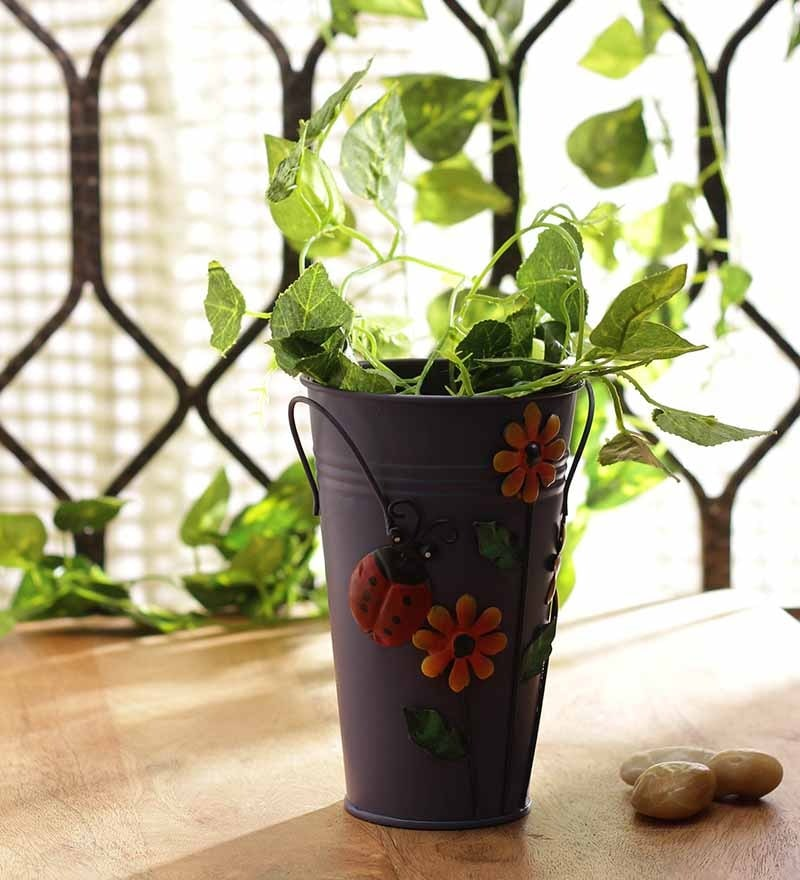 Violet Long Pot Planter by Go Hooked