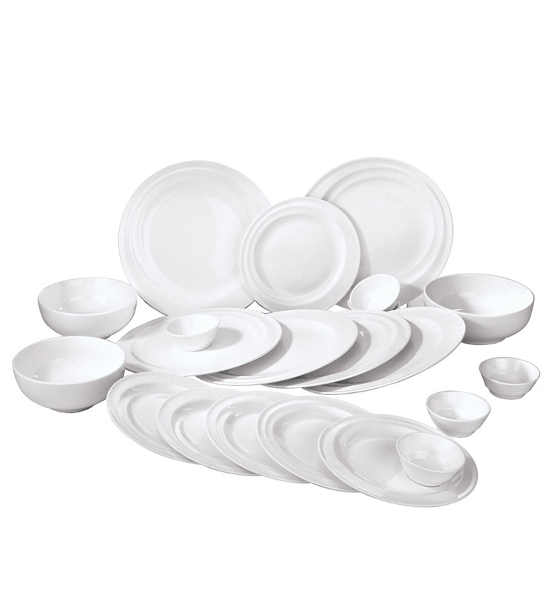 White 21-Piece Dinner Set by Godskitchen