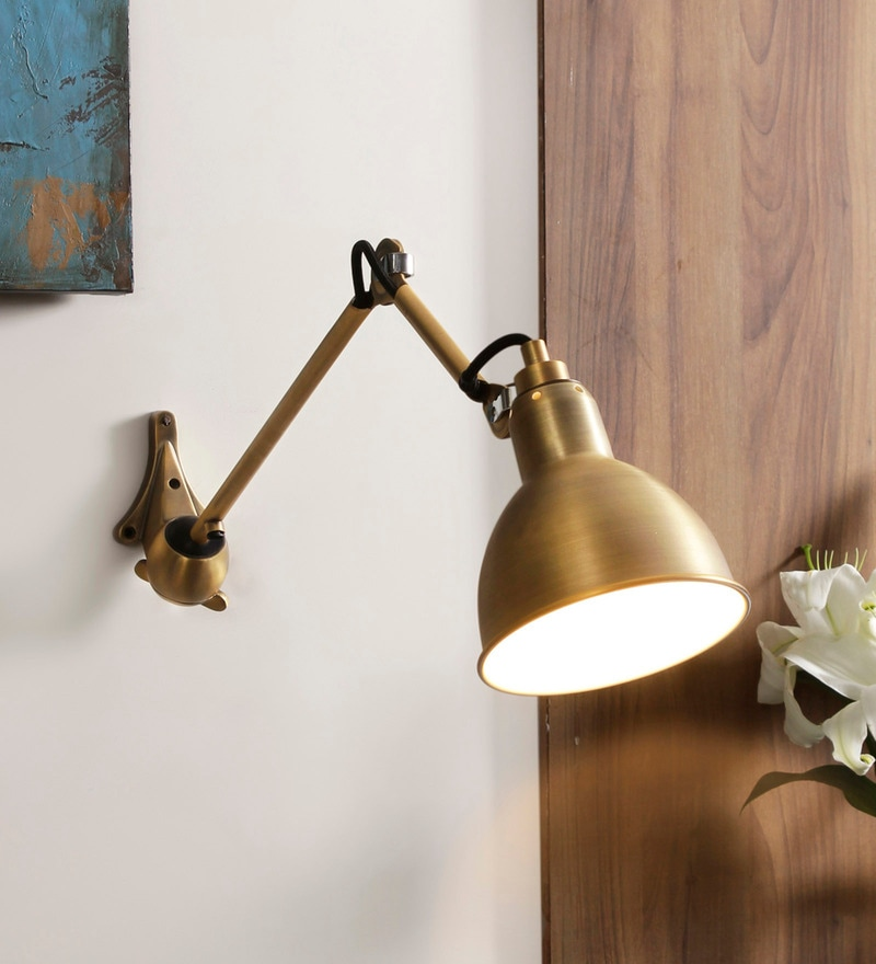 Gold Metal Gras Wall Mounted Light by Jainsons Emporio