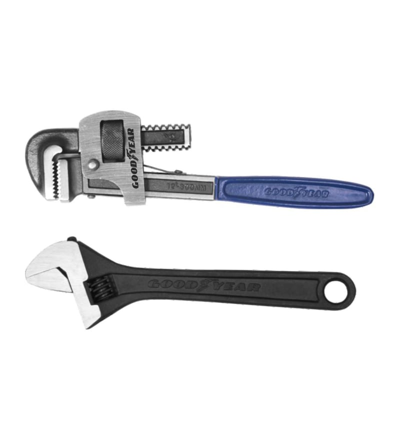 Goodyear Steel Pipe Wrench Stillson Type & Adjustable Wrench