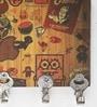 Multicolour MDF Doodle Designer Lightweight Key Holder by Go Hooked