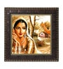 Go Hooked MDF 12 x 1 x 12 Inch Beautiful Girl Framed Art Print