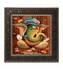 MDF 12 x 1 x 12 Inch Designer Ganesha Framed Art Print by Go Hooked