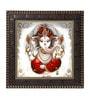 MDF 12 x 1 x 12 Inch Ganesh Framed Art Print by Go Hooked