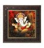 MDF 12 x 1 x 12 Inch Ganesha Framed Art Print by Go Hooked