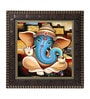 Go Hooked MDF 12 x 1 x 12 Inch Ganesha Framed Art Print