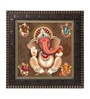 MDF 12 x 1 x 12 Inch Ganesha God Framed Art Print by Go Hooked