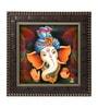 Go Hooked MDF 12 x 1 x 12 Inch Ganesha in Pagdi Framed Art Print