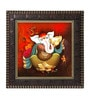 Go Hooked MDF 12 x 1 x 12 Inch God Ganesha Framed Art Print