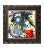MDF 12 x 1 x 12 Inch Krishna Kanhaiya Framed Art Print by Go Hooked