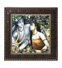 MDF 12 x 1 x 12 Inch Krishna Modern Framed Art Print by Go Hooked