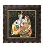 MDF 12 x 1 x 12 Inch Krishna Raas Framed Art Print by Go Hooked