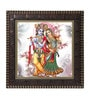 MDF 12 x 1 x 12 Inch Krishna with Flute Framed Art Print by Go Hooked