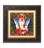 MDF 12 x 1 x 12 Inch Lord Gajanan Framed Art Print by Go Hooked