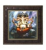MDF 12 x 1 x 12 Inch Lord Ganesh Framed Art Print by Go Hooked