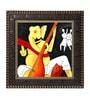 Go Hooked MDF 12 x 1 x 12 Inch Modern Ganesha Framed Art Print