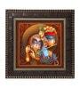MDF 12 x 1 x 12 Inch Modern Krishna Framed Art Print by Go Hooked