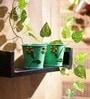 Green Designer Planter - Set of 2 by Go Hooked
