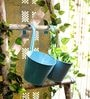 Go Hooked Sky Blue Round Wall Planter - Set of Two