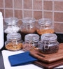 Godskitchen 600 ml Air Tight Multipurpose Glass Jar - Set of six