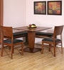 Godwin Four Seater Dining Set (2 Chairs + 1 Bench) in Walnut Finish by @ Home