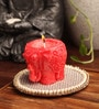 Golden Red Elephant Candle by Candles N Beyond