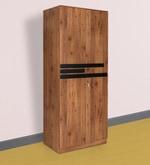 Grafton Two Door Wardrobe in Natural Pine & Black Finish