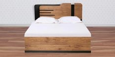 Grafton King Size Bed with Hydraulic Storage in Natural Pine & Black Finish