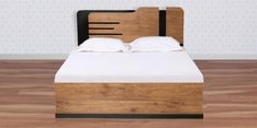 Grafton Queen Size Bed with Hydraulic Storage in Natural Pine & Black Finish