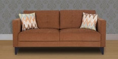 Greenwich Three Seater Sofa in Caramel Brown Colour