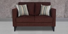 Greenwich Two Seater Sofa in Dark Brown Colour