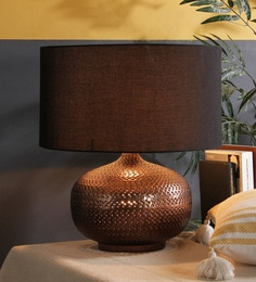 Buy contemporary table lamps online in india best prices pepperfry black cotton table lamp aloadofball Images