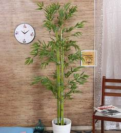 Green Polyster Decorative Artificial Bamboo Floor Plant Without Pot