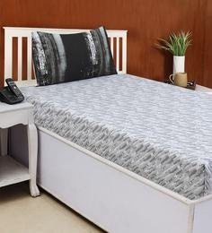 Abstract Pattern 210TC Cotton Satin Single Bed Sheet With 1 Pillow Cover ...