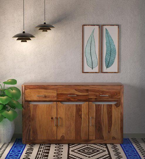 Bon Granada Cabinet In Natural Walnut Finish By @home