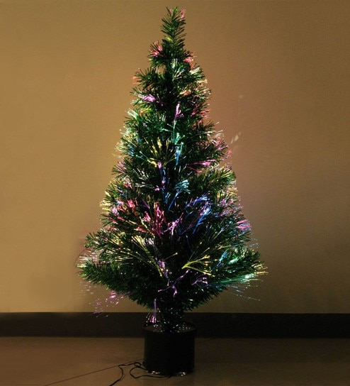 4 Foot Christmas Tree.Green Fibre Optic 4 Ft Tall Christmas Tree With Light Settings By Tallenge