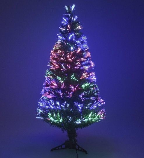Buy Green Fibre Optic 6 FT. Tall Christmas Tree with Light Settings by  Tallenge Online - Christmas Decorations - Festive Decor - Decor - Pepperfry  Product - Buy Green Fibre Optic 6 FT. Tall Christmas Tree With Light Settings