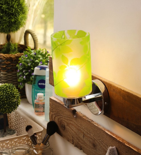 Buy Green Glass Wall Light by Aesthetic Home Solutions Online ...