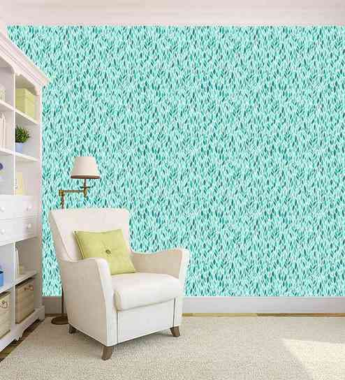 Green Leaf Design Printed Peel And Stick Self Adhesive Wallpaper By 100yellow