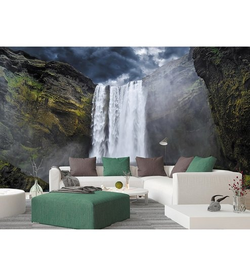Buy Green Non Woven Paper The Magnificent Waterfall Wallpaper By