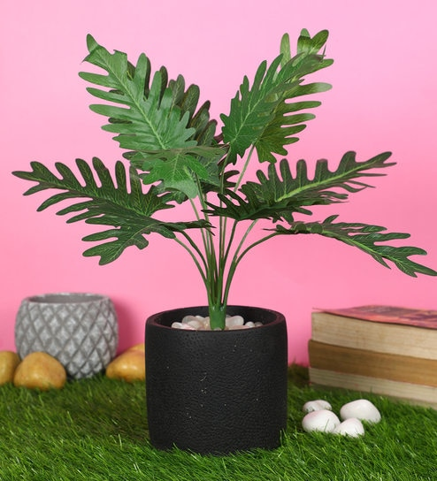 Buy Green Polyester Artificial Plant Without Pot By Pollination Online Artificial Plants Artificial Plants Home Decor Pepperfry Product
