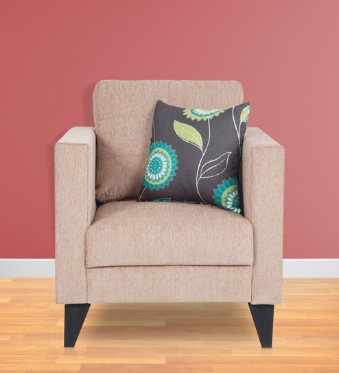 Buy Greenwich One Seater Sofa in Beige Colour by Urban Living Online ...