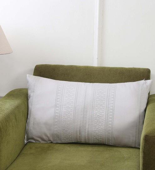 Grey 100 Cotton 14 X 24 Inch Pillow Cover By Maspar