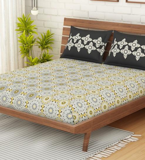 Omnia Cotton 144tc Double Bedsheet