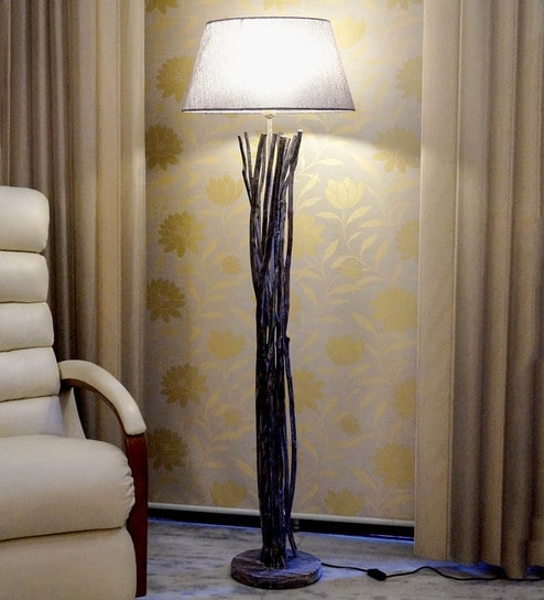 Buy grey jute floor lamp by tu casa online eclectic floor lamps grey jute floor lamp by tu casa aloadofball Images