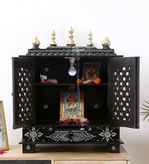 260f55f5b9c Buy Grey Mdf   Mango Wood Handcrafted Home Temple By Homecrafts Online - Floor  Rested Mandirs - Mandirs - Decor - Pepperfry Product