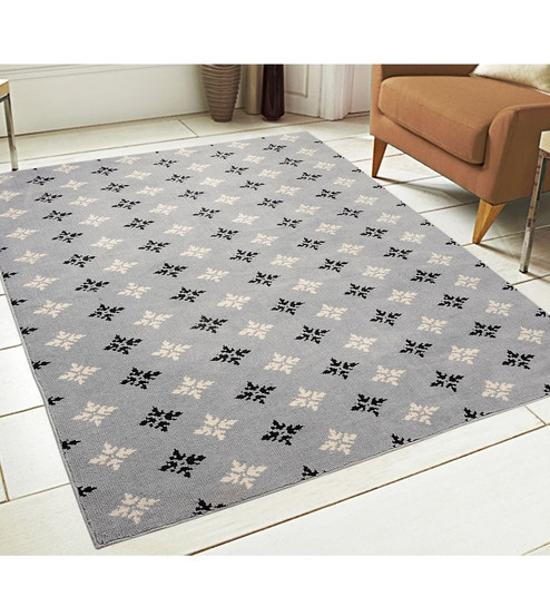 Synthetic Microfiber 6 x 4 feet Machine Made Carpet by Saral Home