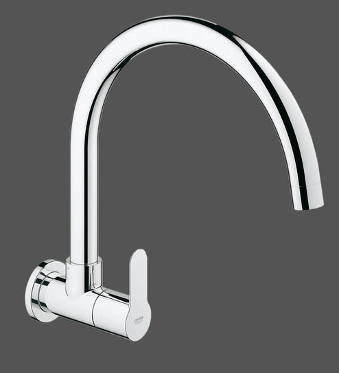 Buy Grohe Bauedge Chrome Brass Wall Basin Tap (Model: 31228000 ...
