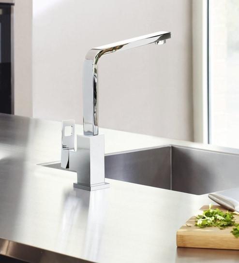 Buy Grohe Eurocube (Chrome) Chrome Metal Kitchen Faucet (Model ...